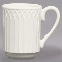 Homer Laughlin HL3657000 Gothic 8 oz. Ivory (American White) Stackable China Mug - 36/Case