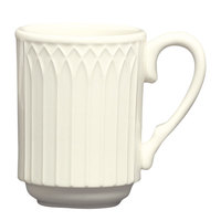 Homer Laughlin 3657000 Gothic 8 oz. Ivory (American White) Stackable China Mug - 36/Case
