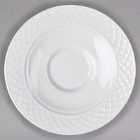 Homer Laughlin 8976900 Kensington Ameriwhite 4 1/2 inch Bright White China Saucer - 12/Case