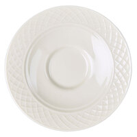 Homer Laughlin 8976900 Kensington 4 1/2 inch Bright White China Saucer - 12/Case