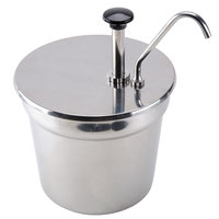 Stainless Steel Condiment Pump with 7 Qt. Inset