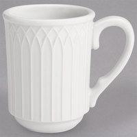 Homer Laughlin 10056900 Kensington Ameriwhite 7 oz. Bright White Stackable China Mug - 36/Case