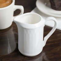 Homer Laughlin 8896900 Kensington 7 oz. Bright White China Creamer - 12/Case