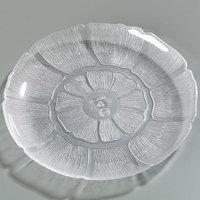 Carlisle 6956-807 Petal Mist 9 inch Clear Polycarbonate Plate - 4/Set
