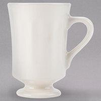 Homer Laughlin 13700 9.25 oz. Ivory (American White) China Panel Mug with Pedestal Base - 36/Case