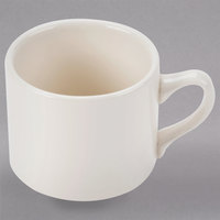 Homer Laughlin 13600 11 oz. Ivory (American White) Market Street China Coffee Cup - 36/Case