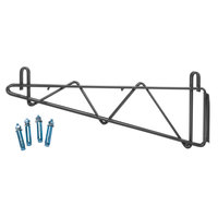 Regency 14 inch Deep Double Wall Mounting Bracket for Adjoining Black Epoxy Wire Shelving