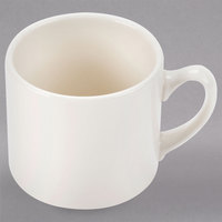 Homer Laughlin 13400 15 oz. Ivory (American White) Market Street Jumbo China Cup - 36/Case
