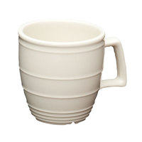 Homer Laughlin 13229200 Flipside 14 oz. Ivory (American White) China Mug - 12/Case