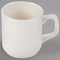 Homer Laughlin 11500 9.25 oz. Ivory (American White) Marquis China Mug - 36/Case
