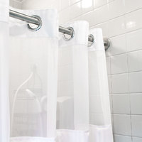 ... Itu0027s Hookless HBH53DTB01CRX White Double H Shower Curtain With Chrome  Raised Flex On Rings, Itu0027s
