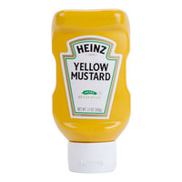 Heinz Yellow Mustard 13 oz. Upside Down Squeeze Bottle   - 16/Case