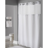 It's A Snap! HBH19SL0157 White RePET One PLANET Shower Curtain Liner with Magnets - 70 inch x 57 inch