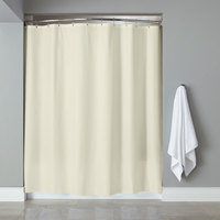Hooked Beige 6-Gauge Vinyl Shower Curtain with Chrome-Plated Copper Grommets - 72 inch x 72 inch