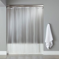 Hooked HBG10GA0972 Frost 10-Gauge Vinyl Basic Shower Curtain with Chrome-Plated Copper Grommets - 72 inch x 72 inch