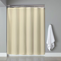 Hooked HBB31PLW0572 Beige Basic Nylon Shower Curtain with Buttonhole Header - 72 inch x 72 inch