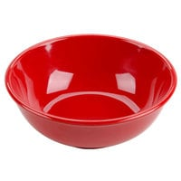 Thunder Group CR5807PR Pure Red 32 oz. Melamine Salad Bowl - 12/Pack