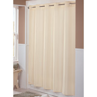 Hookless HBH44ENG05 Beige Englewood Shower Curtain with Matching Flat Flex-On Rings and Weighted Corner Magnets - 71 inch x 74 inch