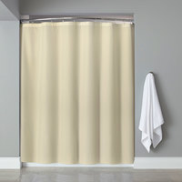 Hooked HBB40PLW0572 Beige Basic Polyester Shower Curtain with Buttonhole Header - 72 inch x 72 inch