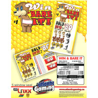 Win & Bare It 5-Window Pull Tab Tickets - 180 Tickets Per Deal - Total Payout: $117