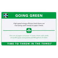 Excel 676 Going Green Hand Dryer Sign