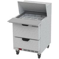 Beverage-Air SPED27HC-12M Elite Series 27 inch 2 Drawer Mega Top Refrigerated Sandwich Prep Table