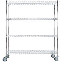 Regency 24 inch x 60 inch NSF Chrome 4-Shelf Kit with 64 inch Posts and Casters
