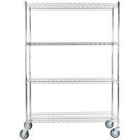 Regency 18 inch x 48 inch NSF Chrome Shelf Kit with 64 inch Posts and Casters
