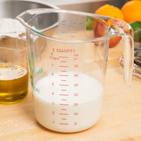 WebstaurantStore 2 Qt. (8 Cups) Clear Polycarbonate Measuring Cup