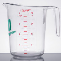 Choice 1 Qt. Clear Polycarbonate Measuring Cup