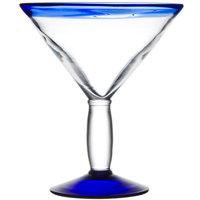 Libbey 92307 Aruba 24 oz. Cocktail Glass with Cobalt Rim and Base - 12/Case