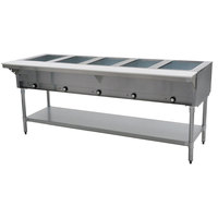 Eagle Group DHT5 Open Well Five Pan Electric Hot Food Table - 208V, 1 Phase
