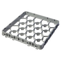Cambro 20GE2151 20 Compartment Soft Gray Half Drop Full Size Glass Rack Extender - 19 5/8 inch x 19 5/8 inch x 2 inch