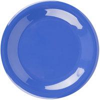 Carlisle 3301614 Sierrus 7 1/2 inch Ocean Blue Wide Rim Melamine Salad Plate - 48/Case