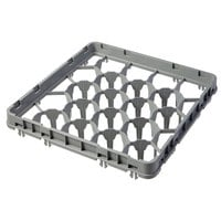 Cambro 20GE1151 20 Compartment Soft Gray Full Drop Full Size Glass Rack Extender - 19 5/8 inch x 19 5/8 inch x 2 inch