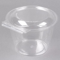 Polar Pak 5HGR048-TV Clear Tamper-Visible 48 oz. Round Bowl with Lid - 135/Case