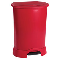 Rubbermaid FG614700RED Red Step-On Container 30 Gallon