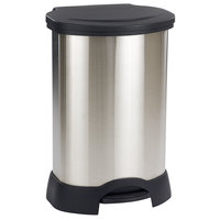 Rubbermaid FG614787 Stainless Steel with Black Accents Step-On Container 30 Gallon (FG614787BLA)