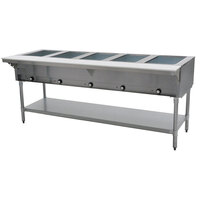 Eagle Group DHT5 Open Well Five Pan Electric Hot Food Table
