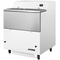 Turbo Air TMKC-34S-WA 34 inch Single Sided White Vinyl and Stainless Steel Milk Cooler - 115V
