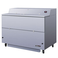 Turbo Air TMKC-58S-WS 58 inch Single Sided White Vinyl and Stainless Steel Milk Cooler - 115V