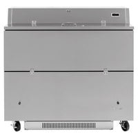 Turbo Air TMKC-49D-SS Super Deluxe 49 inch Dual Sided All Stainless Steel Milk Cooler