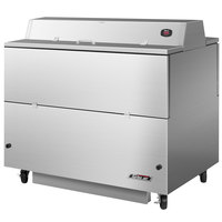 Turbo Air TMKC-49D-SS 49 inch Dual Sided Stainless Steel Milk Cooler - 115V