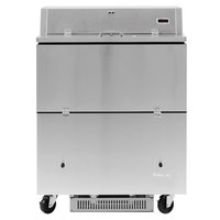 Turbo Air TMKC-34D-SA Super Deluxe 34 inch Dual Sided Stainless Steel Milk Cooler with Aluminum Interior