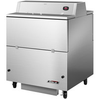 Turbo Air TMKC-34D-SA 34 inch Dual Sided Stainless Steel Milk Cooler - 115V