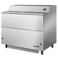 Turbo Air TMKC-49S-SA 49 inch Single Sided Stainless Steel Milk Cooler - 115V