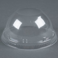 Dart Solo 16LCD Clear PET Dome Lid without Hole - 50/Pack