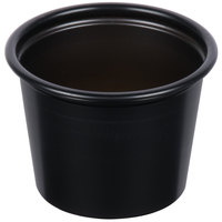Dart Solo P100BLK Black 1 oz. Plastic Souffle / Portion Container - 2500/Case