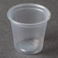 Dart Solo Conex Complements 125PCG 1.25 oz. Translucent Plastic Graduated Medicine Cup - 2500 / Case