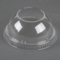 Dart Solo 16LCDHX Clear PET Dome Lid with 2 inch Hole - 50 / Pack